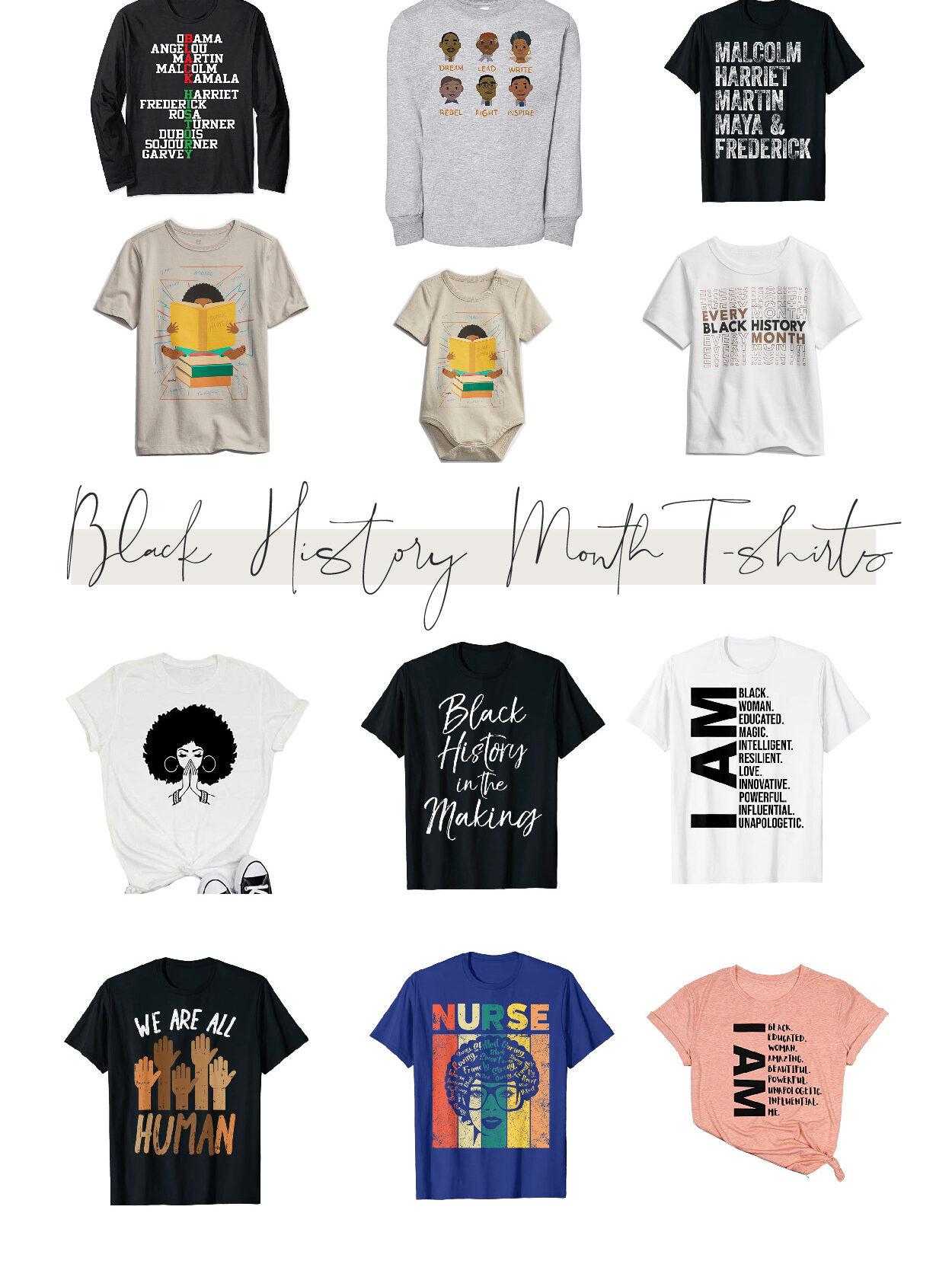 black history month pride t-shirts