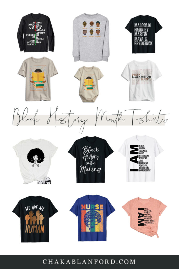 black history month pride t-shirts