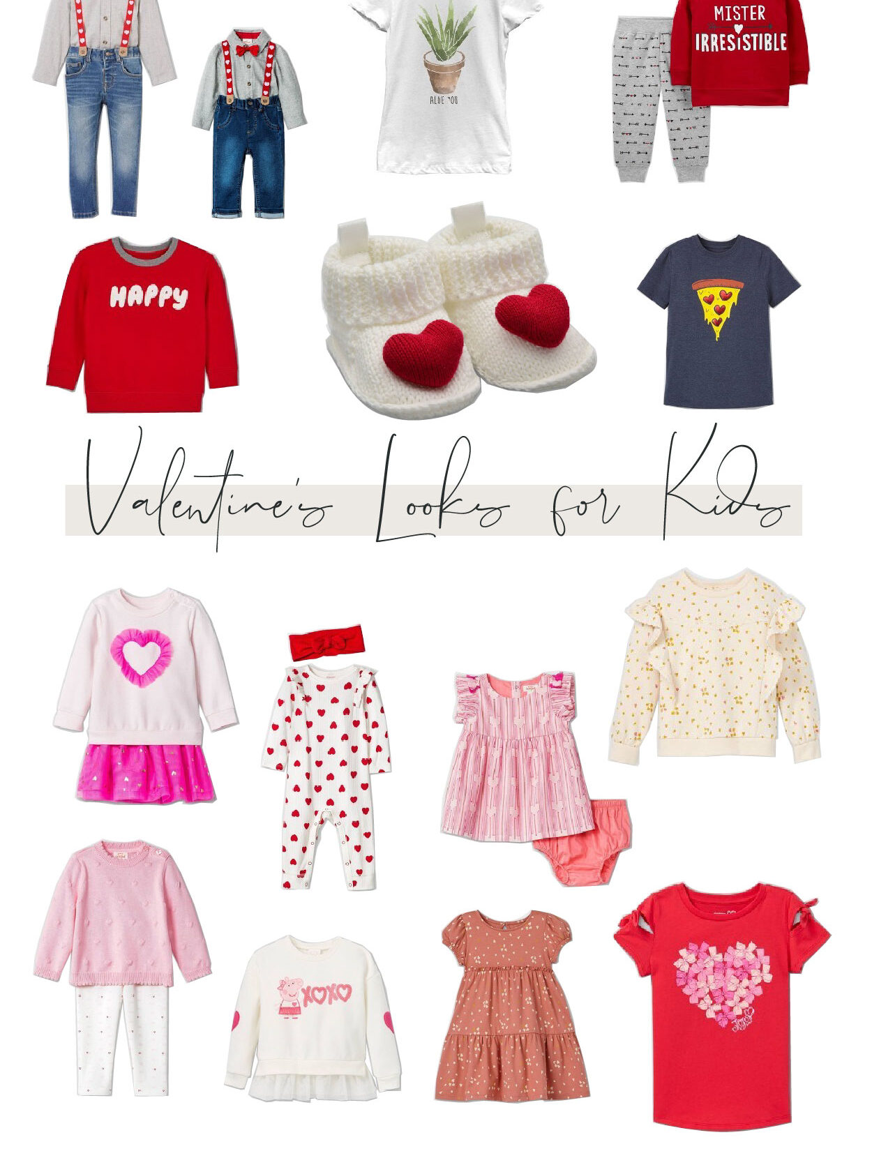 cute valentines looks for kids